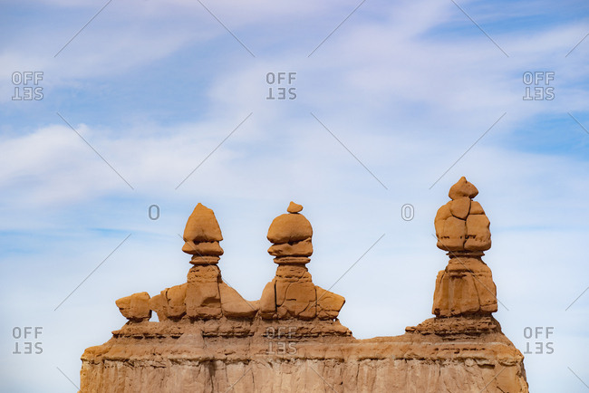 Hoodoos in Goblin Valley State Park, Utah, USA