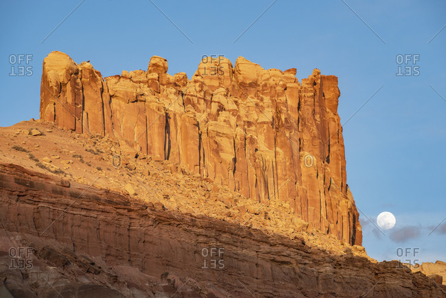 Castle Rock in Capitol Reef National Park, Utah, USA