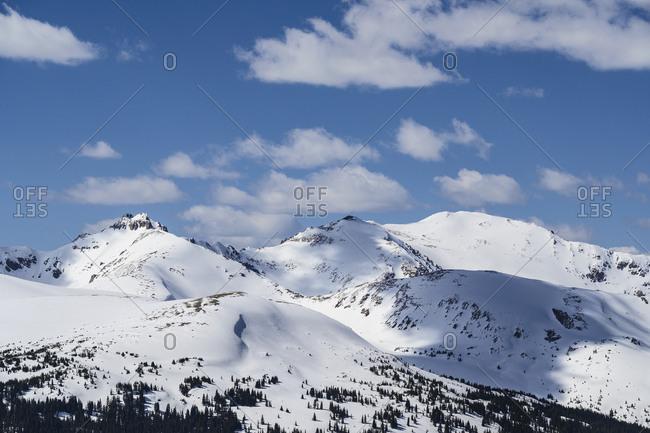 Mountains in Loveland Pass, Colorado, USA