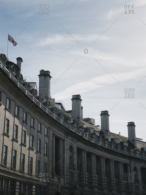 Curved buildings on Regent Street in London, England