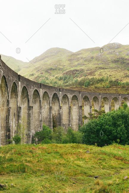 Glenfinnan Viaduct in Scotland - Offset
