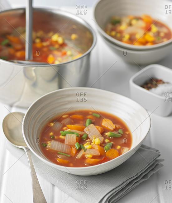 Vegetarian chunky vegetable soup
