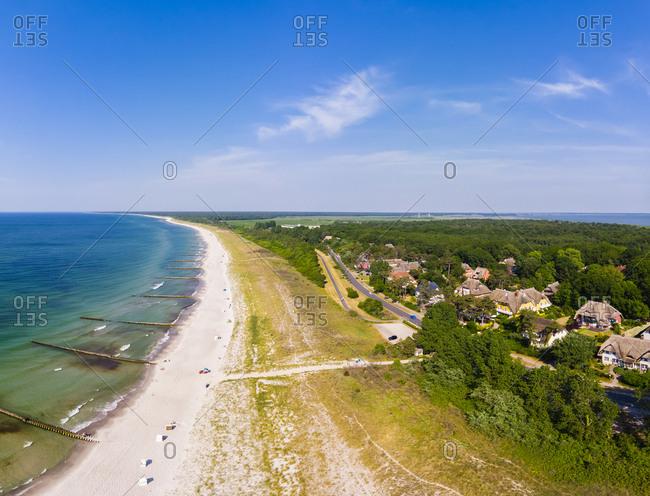 Germany- Mecklenburg-Western Pomerania- Bay of Mecklenburg- Darss- Baltic sea seaside resort Ahrenshoop