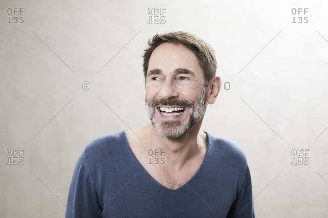 Portrait of a laughing man- Best Ager