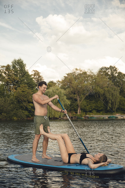Youple on the lake- relaxing on a paddleboard