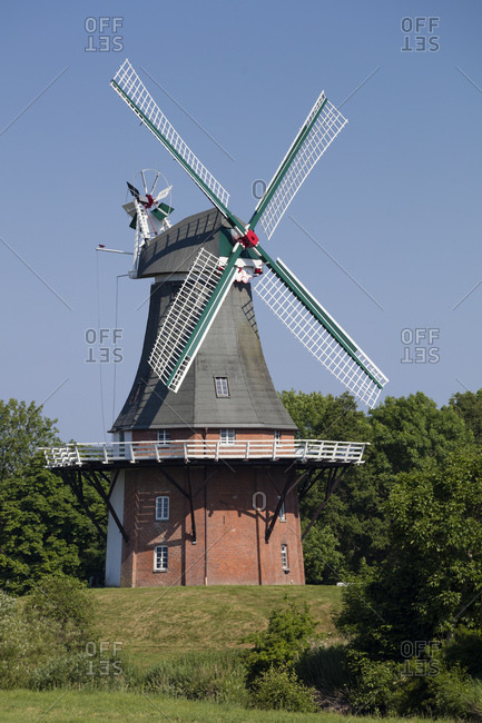 Germany- Lower Saxony- Greetsiel- traditional windmill