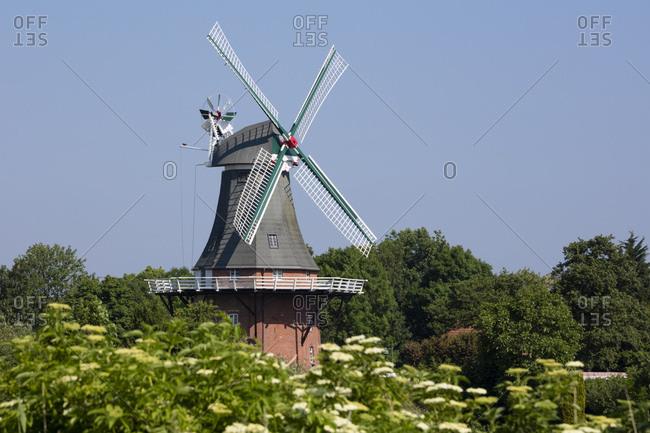 Germany- Lower Saxony- Greetsiel- traditional windmill