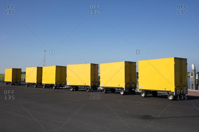 Germany- Deutsche Post- yellow trailers
