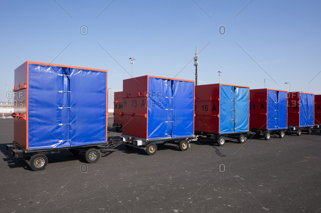 Germany- Norddeich- baggage containers - Offset