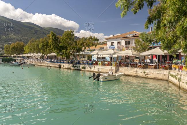 May 24, 2018: Tavern in Vassiliki- Lefkada island- Greece