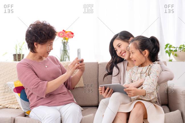 Happy three generations