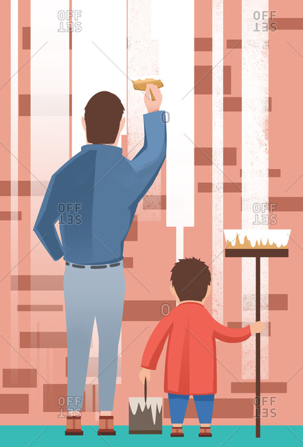Parent-child illustrations