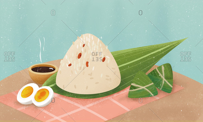 Zongzi illustrations