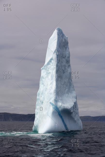 Iceberg alley on the north coast of Newfoundland, Canada