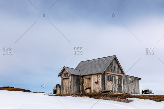 May 25, 2019: Abandoned miners cabin at Camp Mansfield, New London, Svalbard.