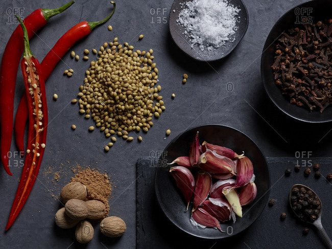 A selection of seeds and spices