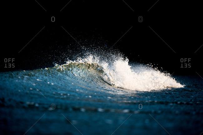 Cresting waves in the ocean