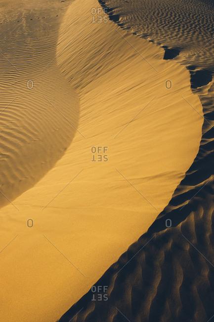Sand dunes in the desert in India