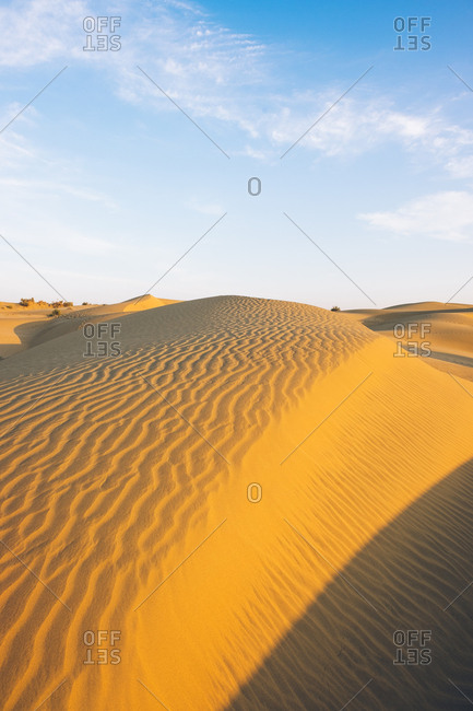 Sand dunes in the Thar Desert in India