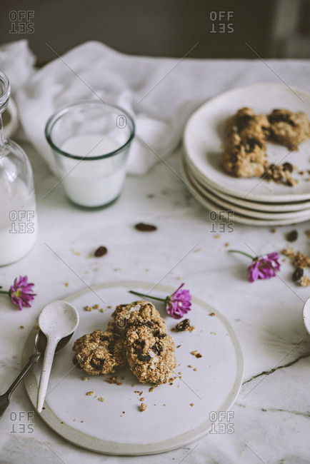 Tasty oatmeal cookies - Offset Collection