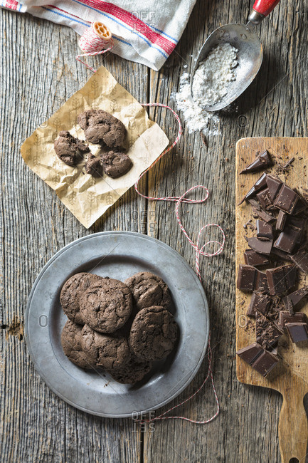 Chocolate cookies from the Offset Collection