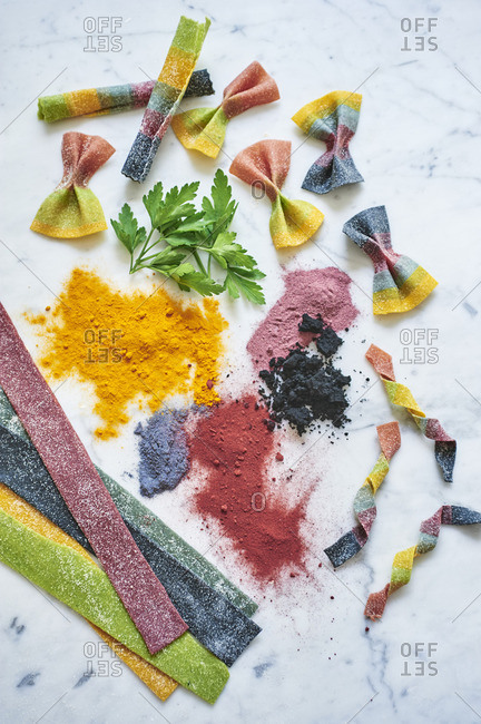 Colorful homemade pasta - Offset Collection