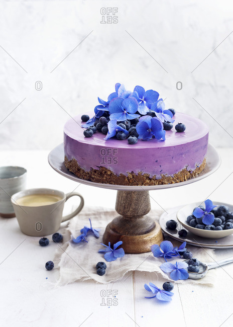 Blueberry cream cheese cake - Offset
