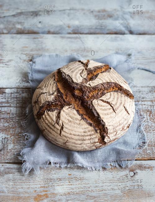 Rustic farmhouse bread