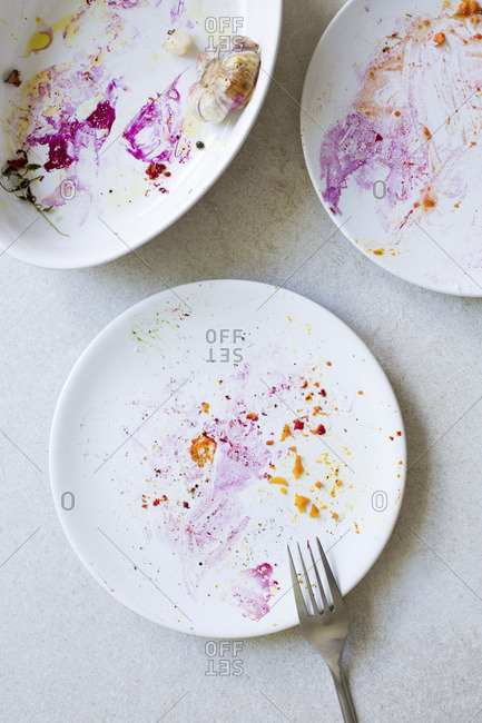 Empty plates from the Offset Collection