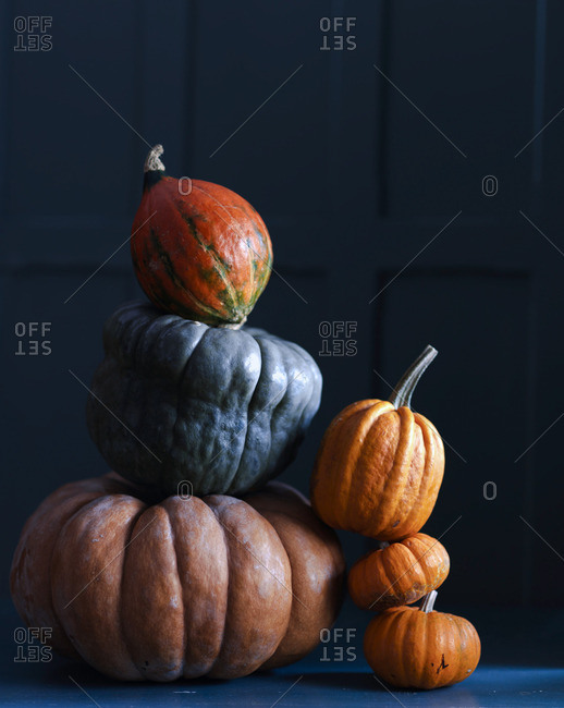 Various pumpkins, stacked - Offset Collection
