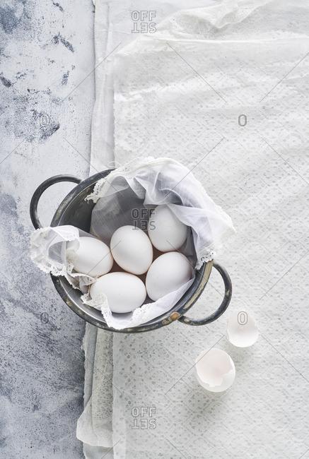 Still life of eggs