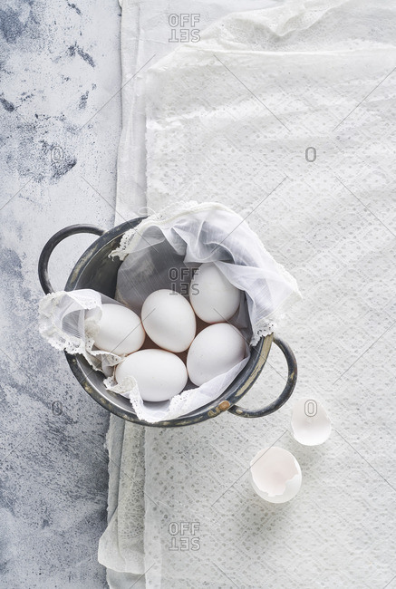 Still life of eggs