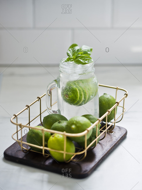Lime basil lemonade