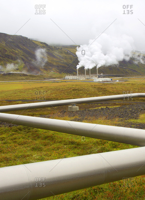 Geothermal power plant in Central Iceland