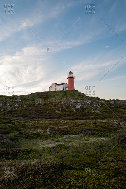 Ferryland Head Light lighthouse in Newfoundland and Labrador, Canada