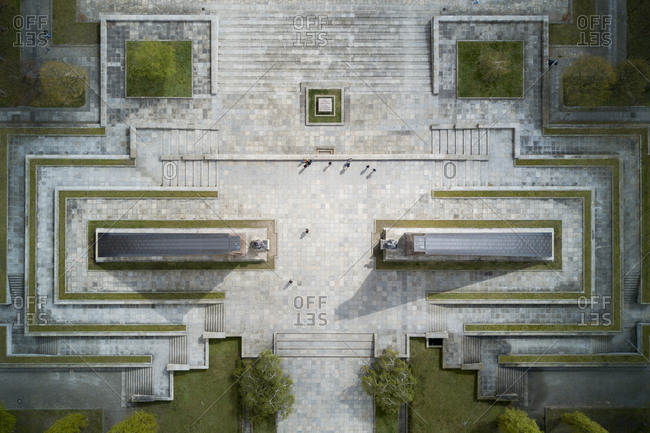 Aerial view above the Soviet War Memorial