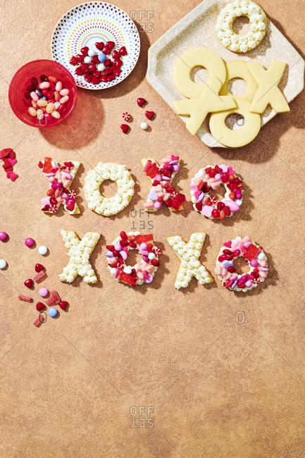Homemade Valentine's day cookies