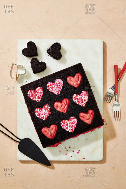 Valentine's day chocolate cake - Offset