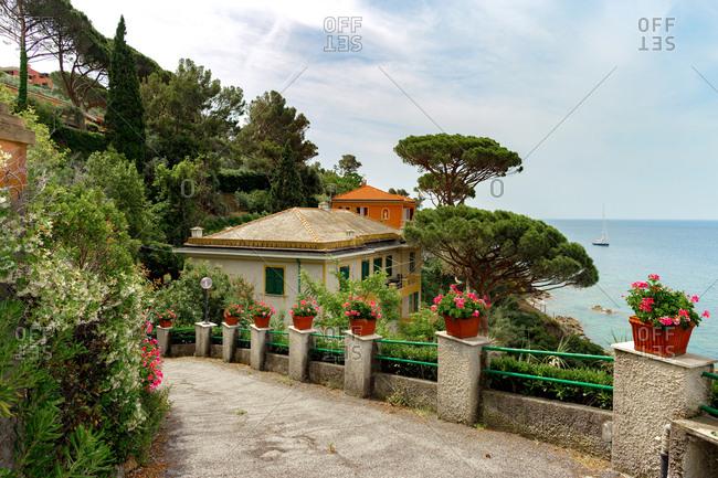 Romantic view of Silence Baia del Silenzio Sestri Levante Liguria, Italy