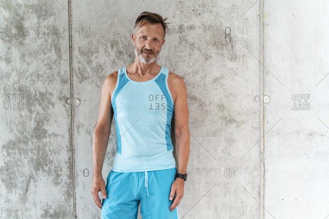 Portrait of a sporty confident man
