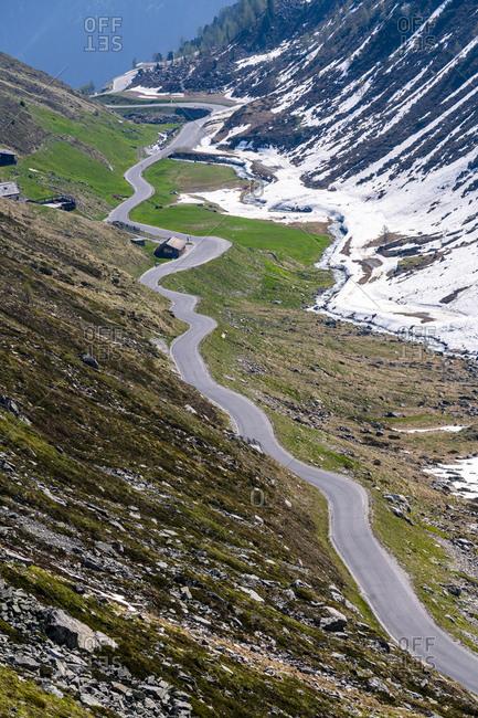 Road to Rettenbach glacier- Soelden- Oetztal- Tyrol- Austria