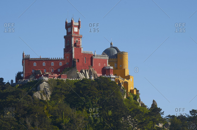 The Pena Palace in Sintra, Portugal