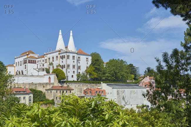View of the Palace of Sintra in Sintra, Portugal