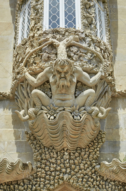 The Arch of the Triton at the Palace of Pena, Sintra, Portugal