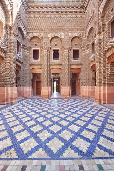 Interior of building in Marrakesh, Morocco, Africa