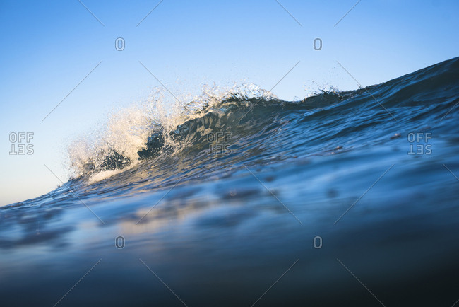 Ocean Water Detail at Golden Hour