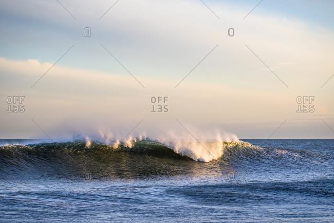 Waves at Golden Hour