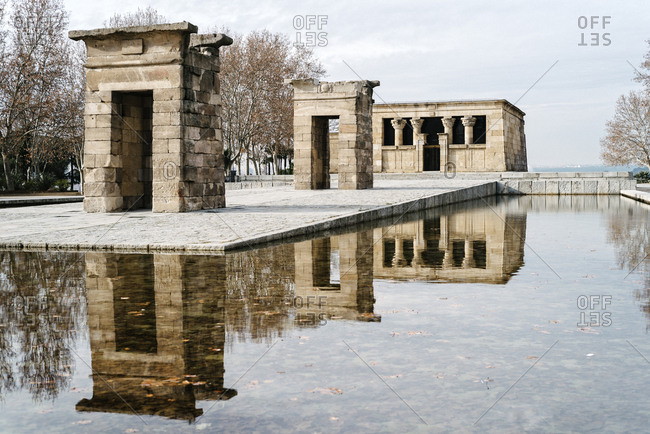 Spain, Madrid - January 13, 2018: Temple of Debod against sky