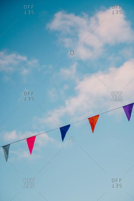 Garlands in sky