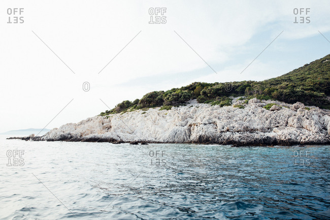 Rocky coast along the Adriatic Sea in Croatia